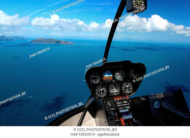 Nature, helicopter, Queensland, Australia, flight, Whitsunday Islands, from above, flight, fly, swim, Shute Harbour, coral reef, islands, island world, sea