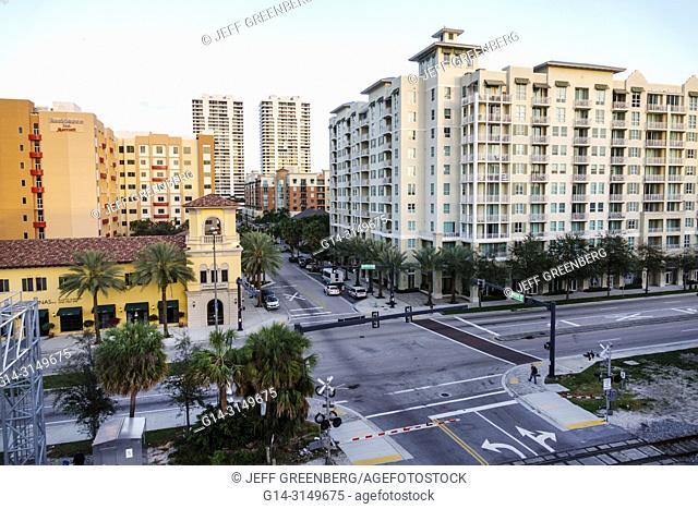Florida, West Palm Beach, Quadrille Boulevard, City Palms Condominium Complex, skyline, buildings