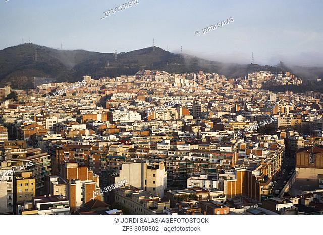 View of Nou Barris neighbouhood, Barcelona, Catalonia, Spain