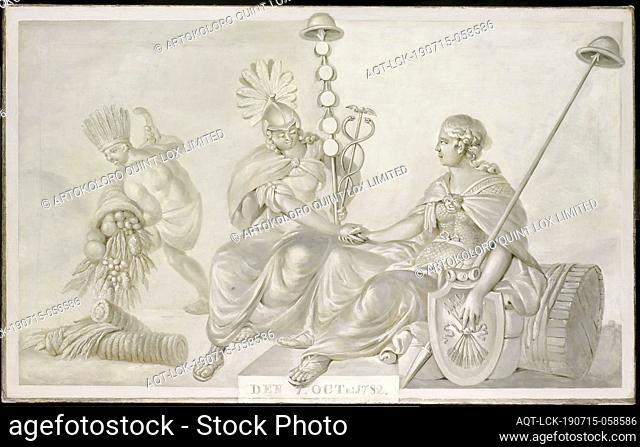 Allegory of the 'Treaty of Friendship and Commerce between the States General of the United Netherlands and the United States of America', The Hague