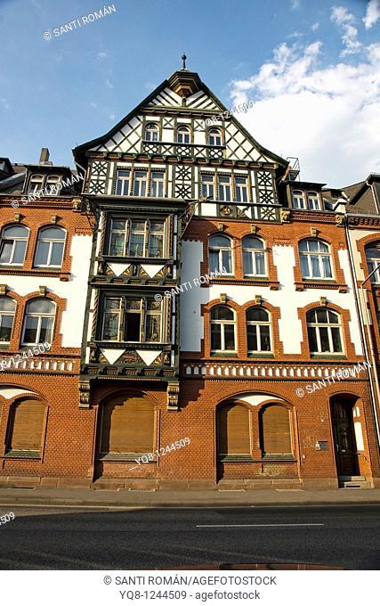 old town, Marburg, Hesse, Germany