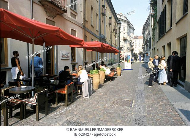 Turin Torino Piemonte Piedmont Italy Hasta coffee shop in the old town