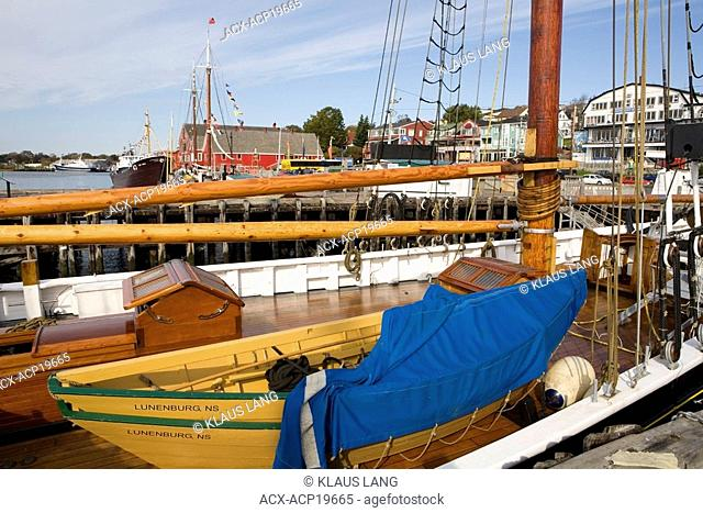 Deck of the Bluenose II, Lunenburg, Nova Scotia, Canada
