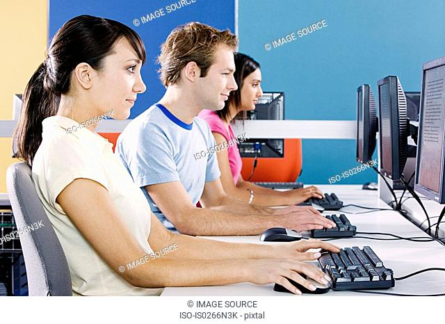 Students in computer room