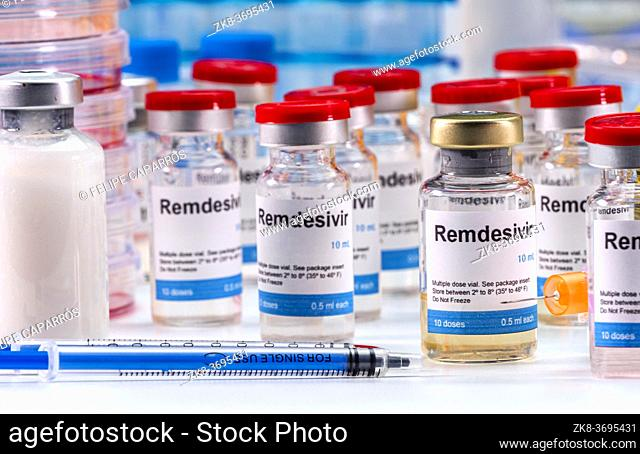 Medication prepared for people affected by Covid-19, Remdesivir is a selective antiviral prophylactic against virus that is already in experimental use