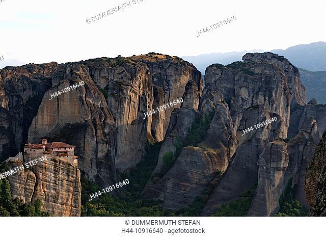 Metéora, world cultural heritage, Kalambaka, Kastraki, monastery, monasteries, orthodox, Greek orthodox, rock, rocks, Thessaly, Greece, Greek