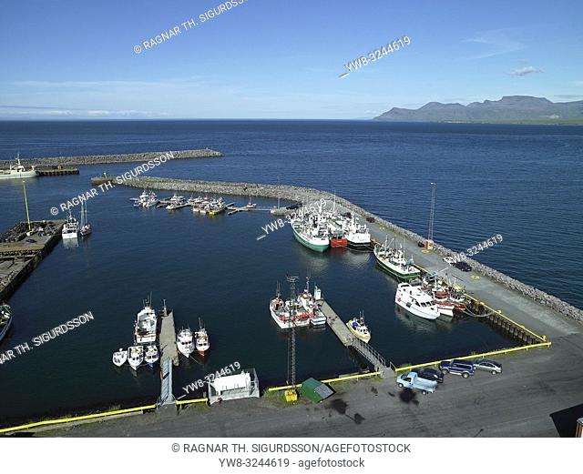 Harbor at Olafsvik, Iceland
