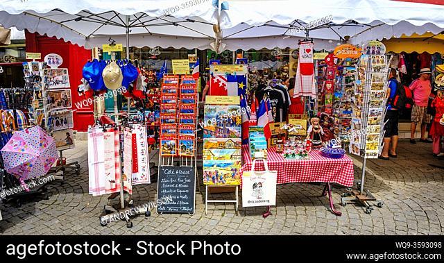 Street market in Strasbourg, France