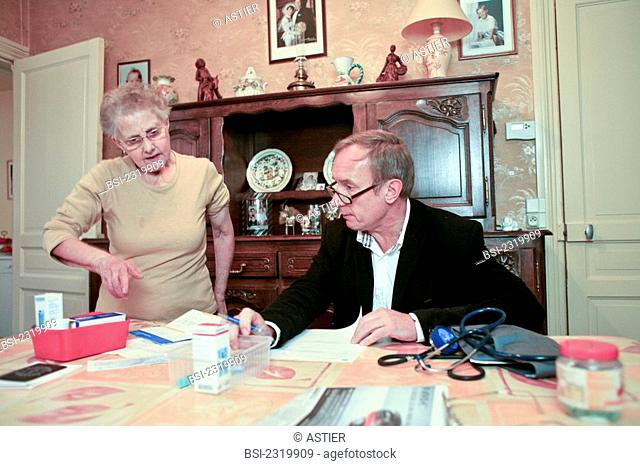 Photo essay. Home consultation of a general practitioner. Hazebrouck, France