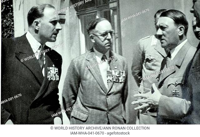 British Legion chairman, Major Francis Fetherston-Godley, meets Hitler in July 1935