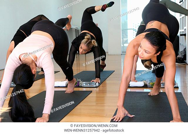 Draya Michele & Friends at AloYoga Featuring: Brittany Hampton, Jasmine Sanders, Draya Michele Where: Beverly Hills, California