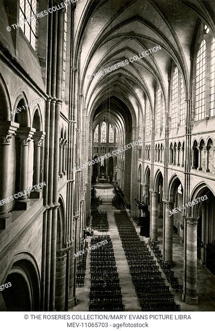 Soissons, Aisne - The St Gervais and St Protais Cathedral (Cathédrale Saint-Gervais-et-Saint-Protais) is an example of Gothic architecture