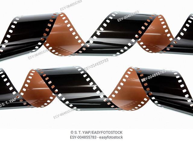Film Strips on White Background