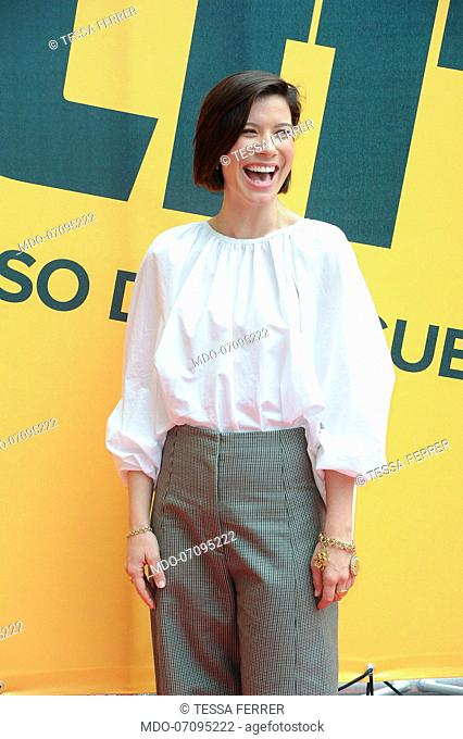 American actress Tessa Ferrer attends the Sky TV series Catch-22 photocall. Rome (Italy), May 13th, 2019