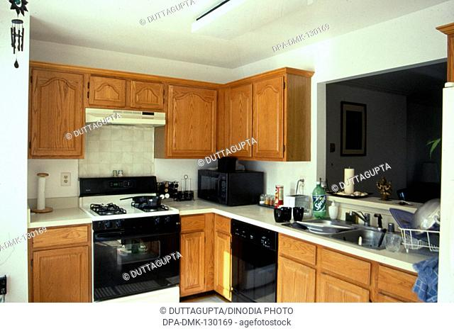 Interior of kitchen ; Denver; U.S.A. United States of America