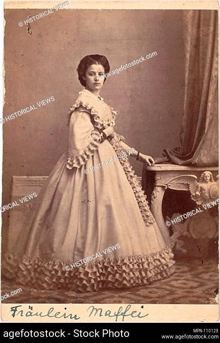 Fräulein Maffei. Artist: Unknown (Italian); Date: 1860s; Medium: Albumen silver print from glass negative; Classification: Photographs; Credit Line: The Elisha...