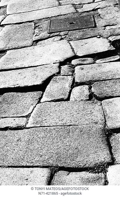 Stone paved street, Porto. Portugal