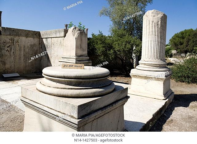 Entrance to the Temple of Zeus, Athens, Greece