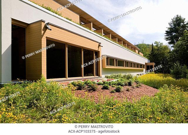 Val Notre-Dame Monasteryin summer, Saint-Jean-de-Matha, Lanaudiere, Quebec, Canada. Architect: Pierre Thibault