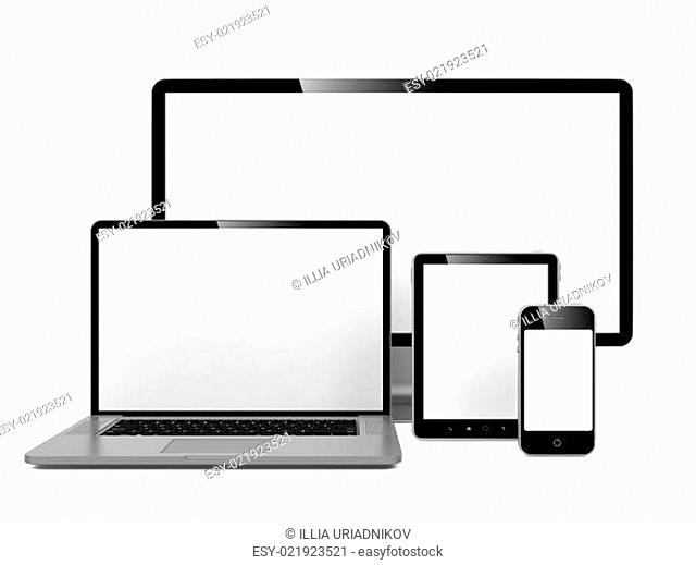 Computer, Laptop and Phone