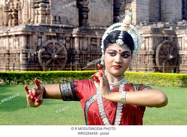 Dancer performing classical traditional odissi dance MR 736C