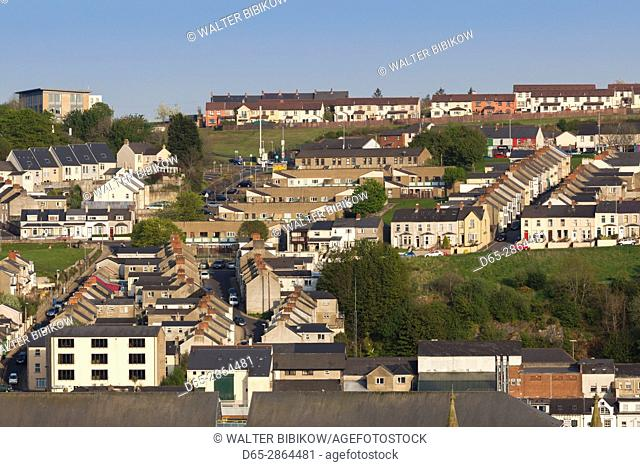 UK, Northern Ireland, County Londonderry, Derry, view of the Waterside area, Londonderry west bank