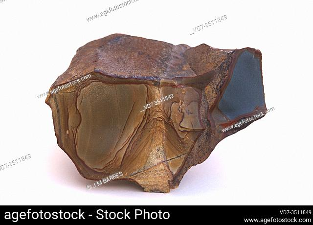 Picture jasper. Jasper is an aggregate of microparticles of quartz. Sample