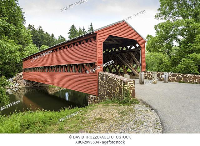 Sachs Bridge, is a 100-foot, Town truss covered bridge over Marsh Creek between Cumberland and Freedom Townships, Adams County in the U. S