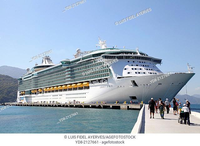 Liberty of the Seas docked in the port of Labadee Haiti
