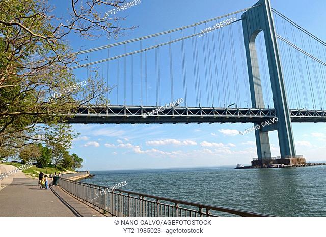 The Verrazano Bridge and Gravesend Bay, New York City