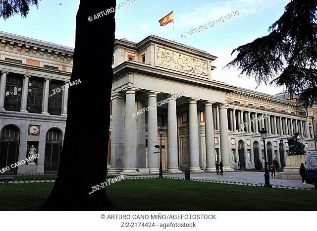 Museum of Prado, main gate or gate of Velazquez. Madrid, Spain