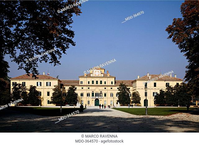 Ducal Palace, by Barozzi Jacopo known as Vignola, 1561, 16th Century, . Italy; Emilia Romagna; Parma; Ducal Palace; . Ducal Palace front/facade park garden...