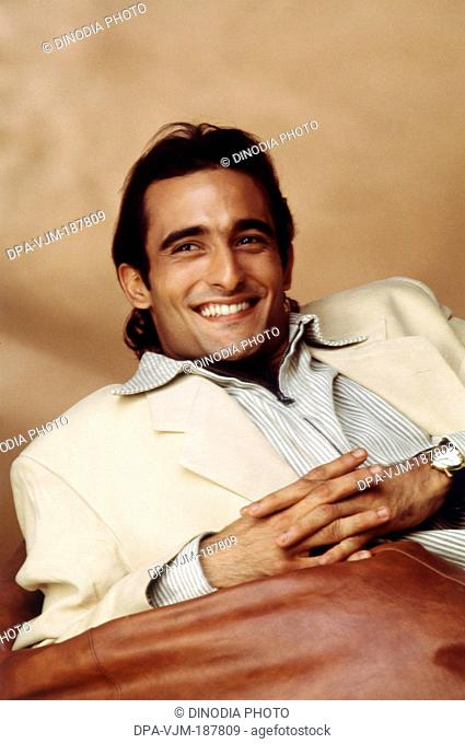 1992 Portrait of Indian film actor Akshay Khanna