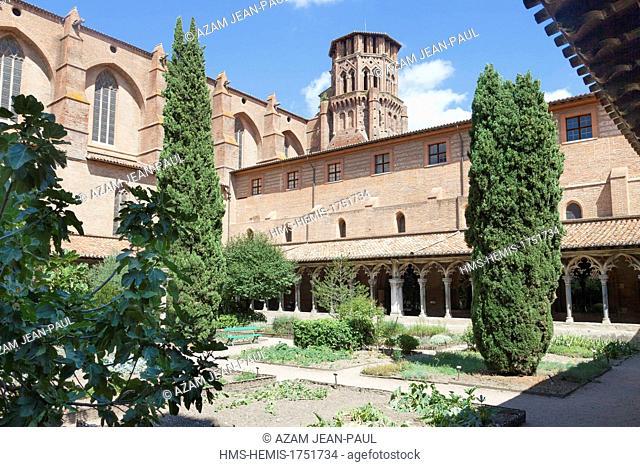 France, Haute Garonne, Toulouse, Musee des Augustins, the cloister's garden