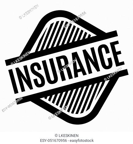 insurance stamp on white background. Sign, label sticker