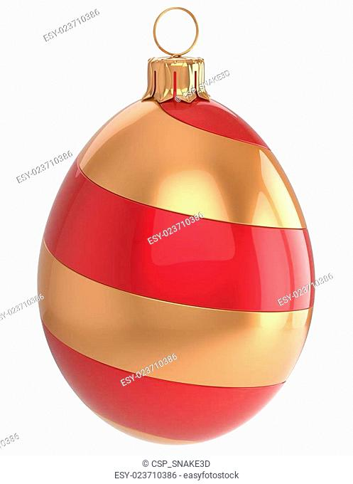 Christmas ball New Year's Eve egg bauble decoration red gold