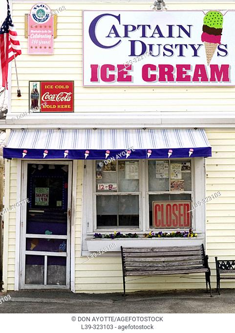 Ice cream place in Manchester by the Sea, Massachusetts, USA
