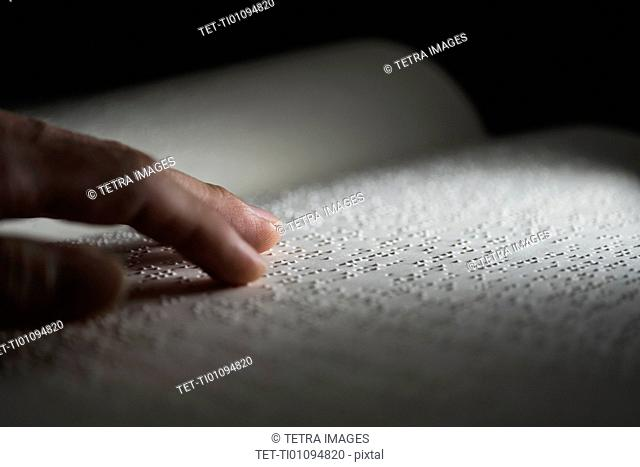 Book with Braille text