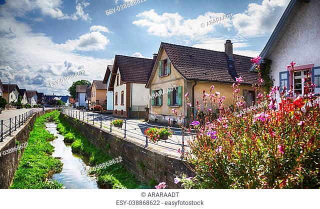 summer Germany village in Baden-Baden region