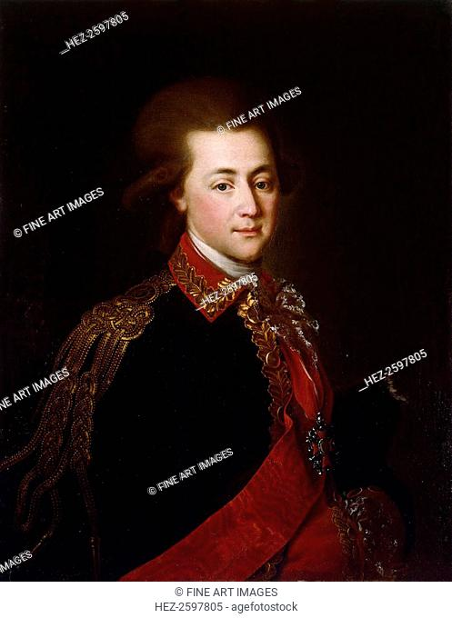 Portrait of the palace-aide-de-camp Alexander Lanskoy, the Catherine II' favorite, 1784. Found in the collection of the State Hermitage, St
