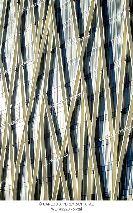 Telefonica's building, Forum site, Barcelona, Catalonia, Spain