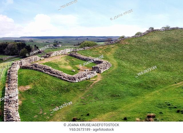 Hadrian's Wall, Castle Nick, Steel Rigg, Northumberland, England, UK