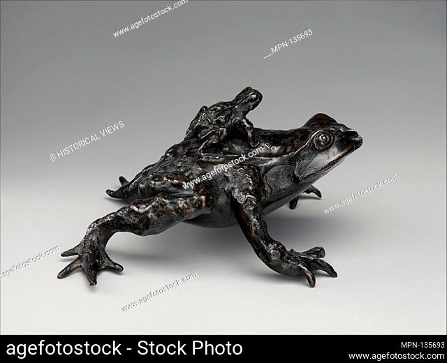 Toad with a Young Toad on its Back. Date: ca. 1500; Culture: Italian, probably Padua; Medium: Bronze; Dimensions: Overall (confirmed): 2 1/2 x 4 5/8 x 4 3/4 in