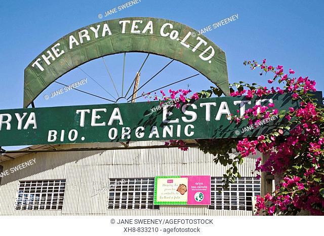 India, West Bengal, Darjeeling, Arya Tea Estate, Factory