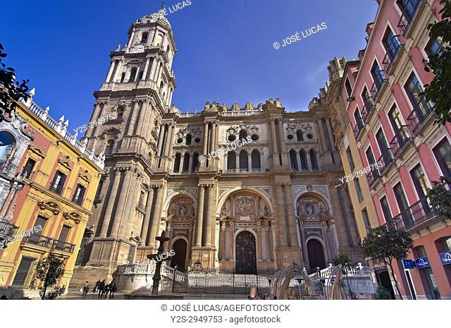 Cathedral (opened in 1588), Malaga, Region of Andalusia, Spain, Europe