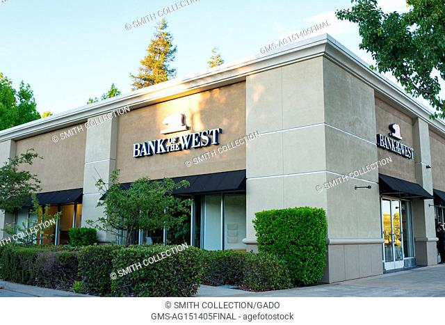 Local branch of Bank of the West, in the San Francisco Bay Area town of San Ramon, California, July 15, 2017. Bank of the West is a subsidiary of BNP Paribas...