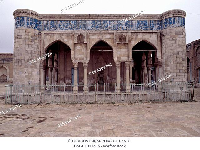 The Khuda Khaneh or Bayt al-Mashaf (House of Qur'ans or House of Books), 1351, in the courtyard of the Masjid-i Atiq mosque (Friday mosque), Shiraz, Iran