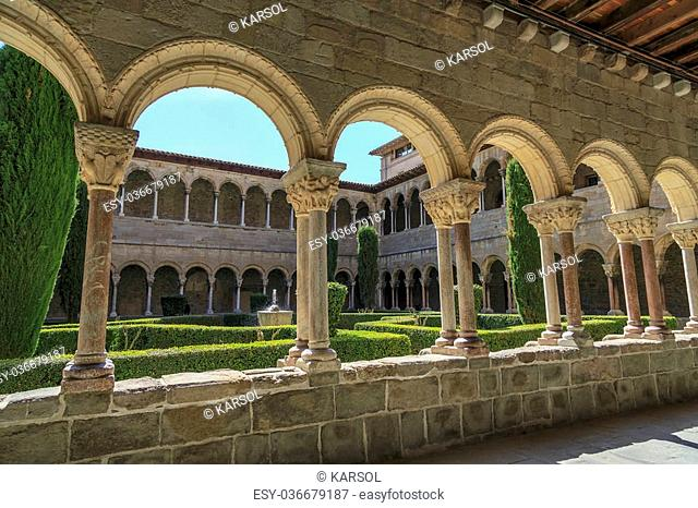 Santa Maria de Ripoll monastery, Catalonia, Spain. Founded in 879, is considered the cradle of the catalan nation