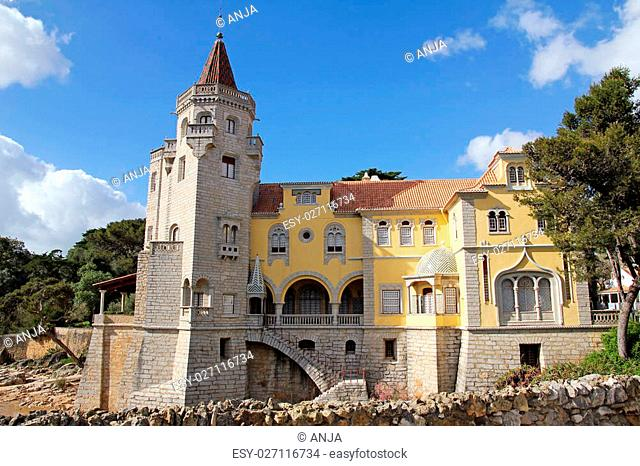 beautiful building of Museu Condes de Castro Guimar?es in Cascais, Portugal