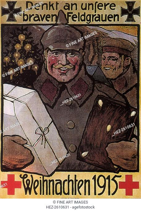 Remember our good men in field grey. Christmas 1915, 1915. Artist: Anonymous